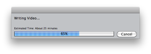 Final Cut Pro making me wait